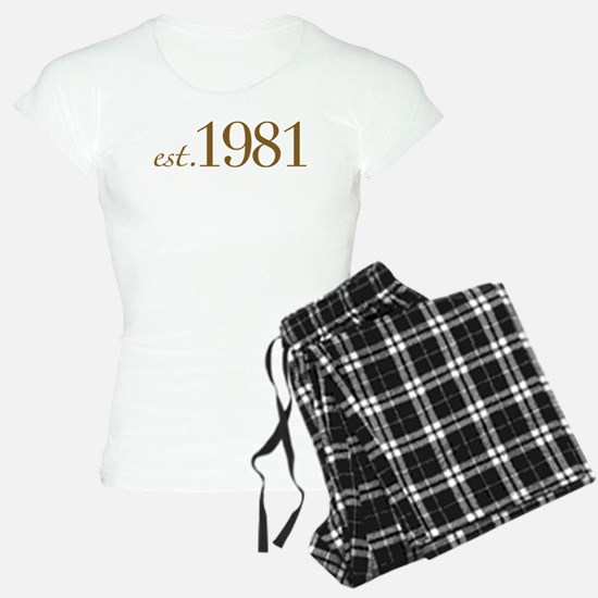 Est 1981 (Birth Year) Pajamas