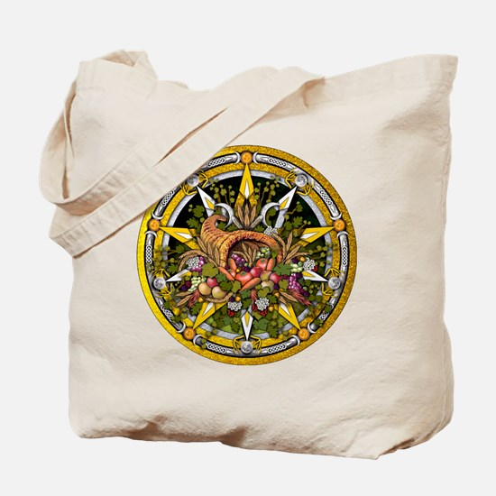 Mabon Pentacle Tote Bag