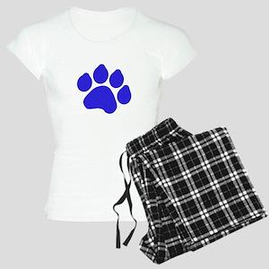 Blue Paw Print Women's Light Pajamas