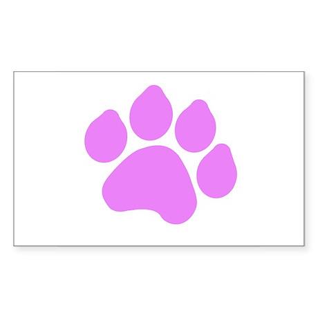 Paw Print Sticker (Rectangle)