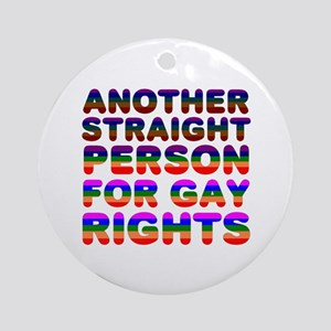 Pro Gay Rights Ornament (Round)