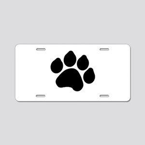 Paw Print Aluminum License Plate