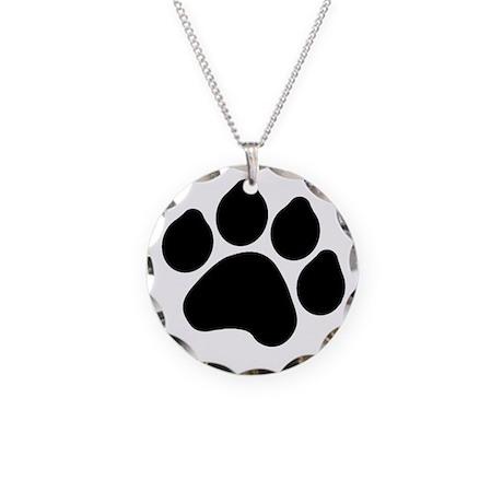 Paw Print Necklace Circle Charm