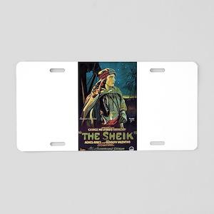 The Sheik (1) Aluminum License Plate