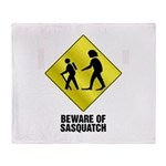 Sasquatch Throw Blanket