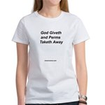 God Giveth Words Women's T-Shirt