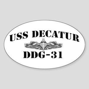 USS DECATUR Sticker (Oval)