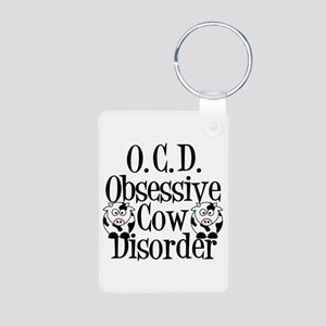 Obsessive Cow Disorder Aluminum Photo Keychain
