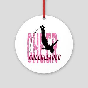 Flip Out Cheerleader Ornament (Round)