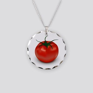 Red Tomato ! Necklace Circle Charm