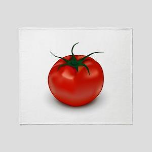 Red Tomato ! Throw Blanket