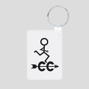 Cross Country CC Aluminum Keychain