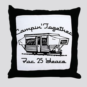 Camping Together 25 Years Throw Pillow