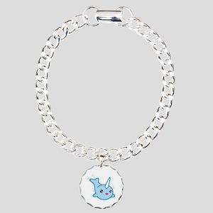 Narwhal Kawaii Charm Bracelet, One Charm