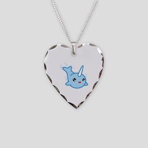 Narwhal Kawaii Necklace Heart Charm