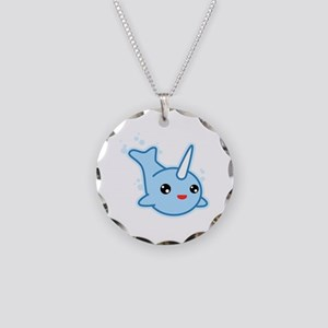 Narwhal Kawaii Necklace Circle Charm