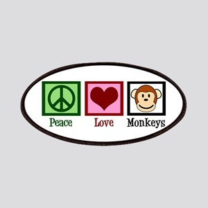 Peace Love Monkeys Patches