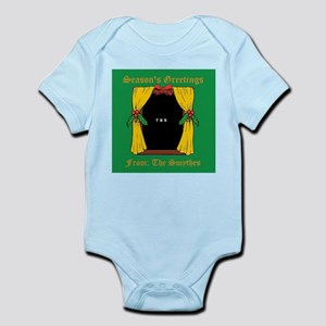 Vertical Holiday Window Cloth Infant Bodysuit