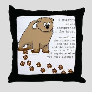 Norfolk's Throw Pillow