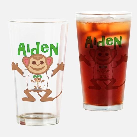 Little Monkey Aiden Drinking Glass