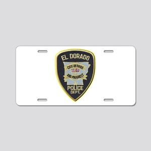 El Dorado Police Department Aluminum License Plate