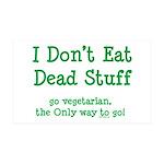I Don't Eat Dead Stuff 38.5 x 24.5 Wall Peel