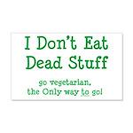 I Don't Eat Dead Stuff 22x14 Wall Peel