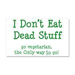 I Don't Eat Dead Stuff Car Magnet 20 x 12