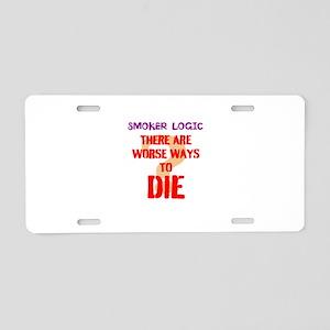 smoker logic Aluminum License Plate