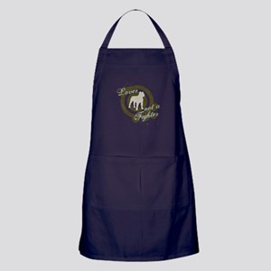 Lover not a Fighter Apron (dark)