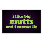 I Like Big Mutts Sticker (Rectangle 50 pk)