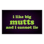 I Like Big Mutts Sticker (Rectangle)