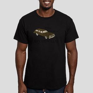 Hey Jerk Speed Kills Men's Fitted T-Shirt (dark)