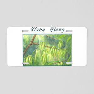 Ylang Ylang Labeled Aluminum License Plate