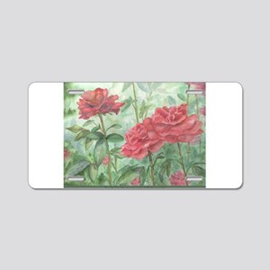 Owen's Rose Garden Aluminum License Plate
