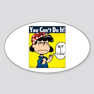 Lucy the Riveter Sticker (Oval)