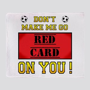 Red Card Throw Blanket