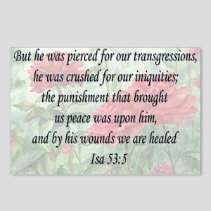 Isaiah 53:5 Postcards (Package of 8)