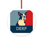 Derp Derp Derp Ornament (Round)