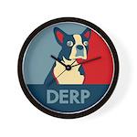 Derp Derp Derp Wall Clock