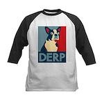 Derp Derp Derp Kids Baseball Jersey
