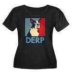 Derp Derp Derp Women's Plus Size Scoop Neck Dark T
