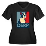 Derp Derp Derp Women's Plus Size V-Neck Dark T-Shi