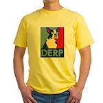 Derp Derp Derp Yellow T-Shirt