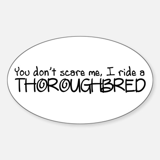 Thoroughbred Sticker (Oval)