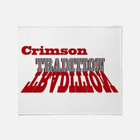Crimson Tradition Throw Blanket