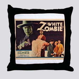 White Zombie Throw Pillow
