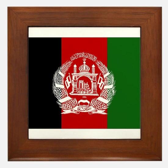 Afghanistan Flag Framed Tile