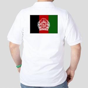 Afghanistan Flag Golf Shirt