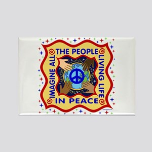 Hands of Peace Rectangle Magnet